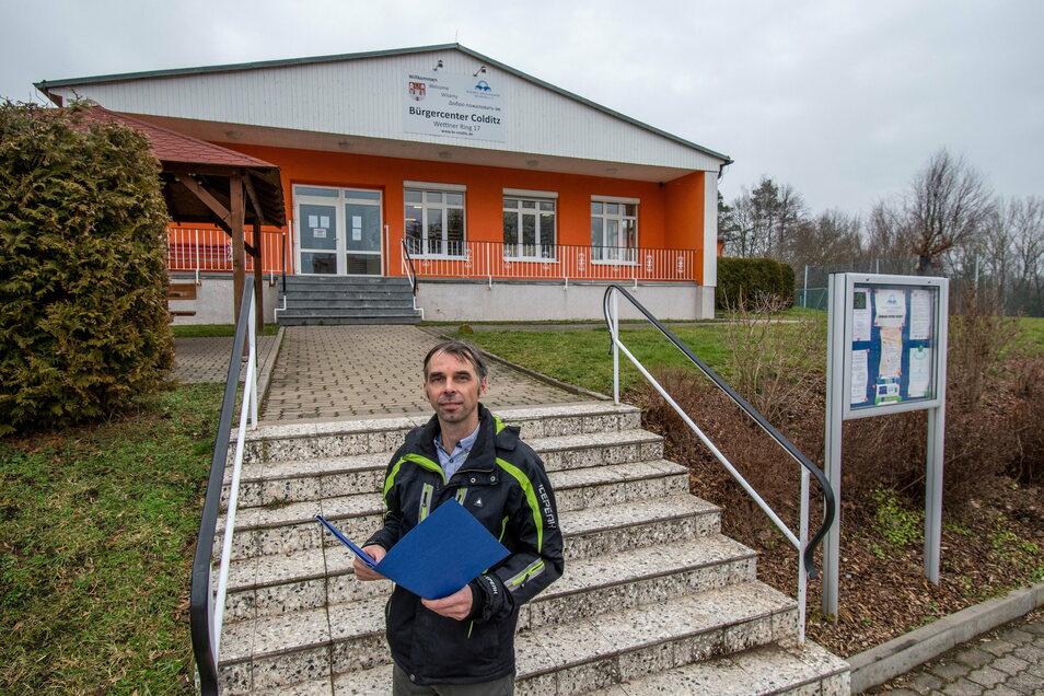 Ronny Kriz, Bereichsleiter Querschnittsaufgaben des Vereins Bildungs- und Sozialwerk Muldental, freut sich, dass der Verein nun Träger des Kinder- und Jugendhauses in Hartha ist.