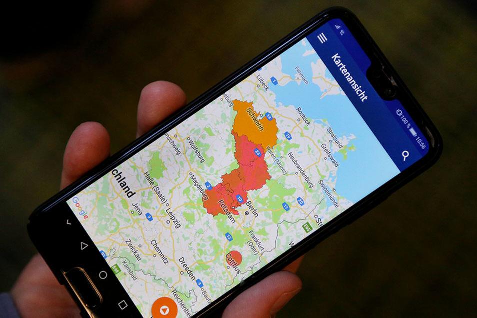 Wichtige Warnmeldungen für Bevölkerungsschutz und Extremwetter kommen direkt auf das Smartphone.