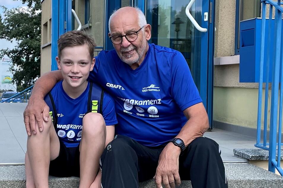 Theo Schnappauf hat maßgeblichen Anteil an Finn Schoops sportlicher Entwicklung und ist megastolz, dass der OSSV Kamenz ein Kind mit zehn Jahren an eine Sportschule delegieren kann.