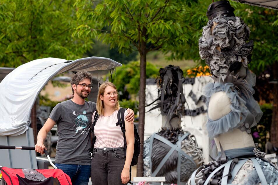 Skulpturen wie diese waren im Königsteiner Klassikgarten ein richtiger Hingucker. Die grüne Lounge-Ecke gab es dieses Jahr nicht. Das hängt ausnahmsweise nicht mit der Pandemie zusammen.