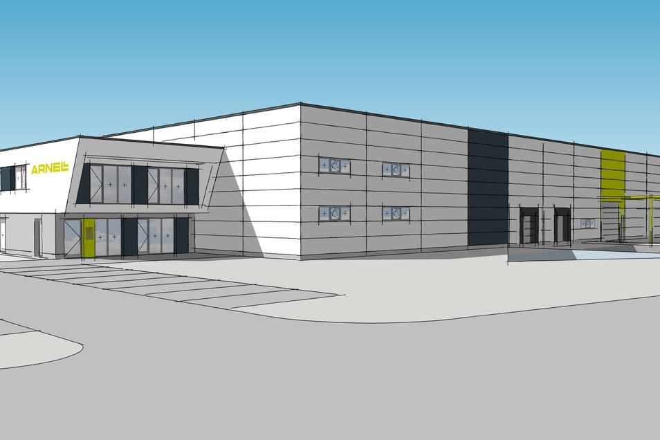 So soll das neue Firmengebäude der Arno Hentschel GmbH im Gewerbegebiet Weinau aussehen.