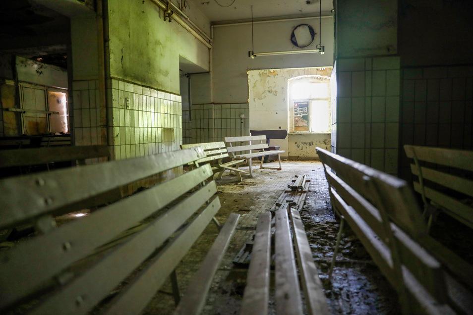 Ein Blick in die einstige Küche des Kurhauses.