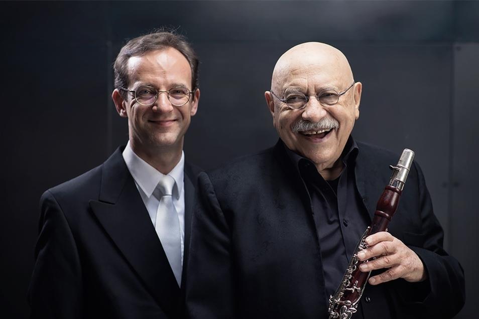 Weltstar Feidman (rechts) und sein Orgelpartner Sergej Tcherepanov