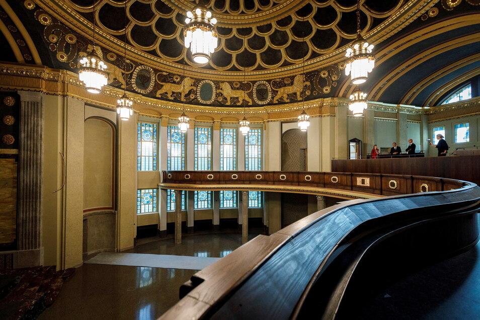 Die frühere Görlitzer Synagoge sollte nach ihrer jahrelangen Sanierung eigentlich schon im vergangenen Jahr eröffnet werden. Coronabedingt wurde die Eröffnung auf Ende Mai verschoben.