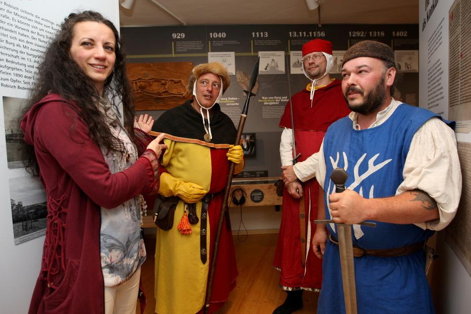 Dohna und das Mittelalter gehören zusammen, sagt auch Kathrin Penndorf, die der Gruppe angehört und das Museum leitet.