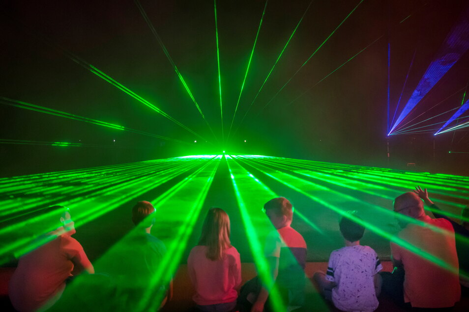 Die Lasershow am Sonnabend ab 20.30 Uhr wird nur einer der Festhöhepunkt sein.