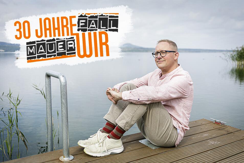 """Conrad Schröpel ist Manager im Hotel """"Insel der Sinne"""" am Berzdorfer See bei Görlitz. Nach vielen Jahren in Österreich ist der Niederoderwitzer in seine Heimat zurückgekehrt."""