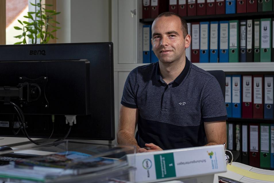 Patrick Goldschmidt arbeitet als Energiemanager in der Stadt Wilsdruff.