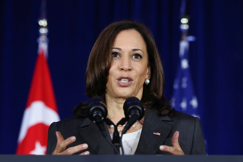 US-Vizepräsidentin Kamala Harris hat den Abzug aus Afghanistan rechtfertigt.
