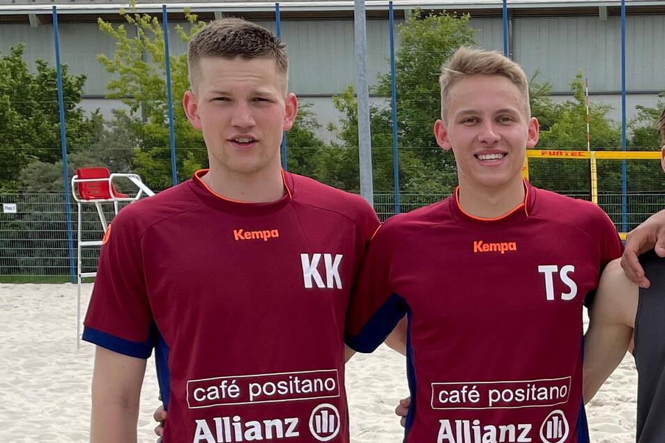 Der Freitaler Till Sittner (r.) startet mit seinem Partner Karl-Lennart Klehm bei den Ruhrgames in Bochum.