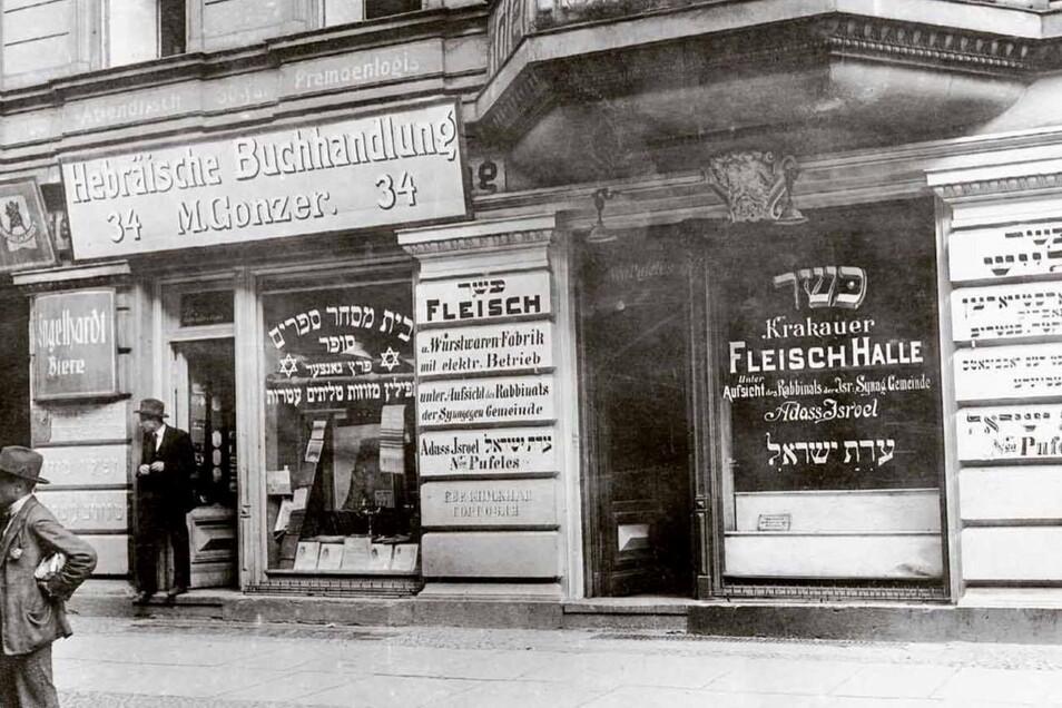 """Die """"Krakauer Fleischhalle"""" in Berlin im Original."""