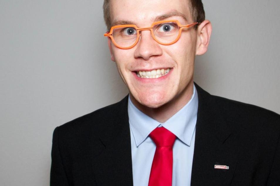 """Michael Krause geht für """"Die Partei"""" ins Rennen."""