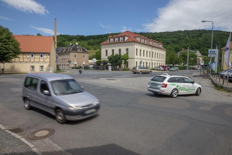 Der Dorfplatz in Neundorf.