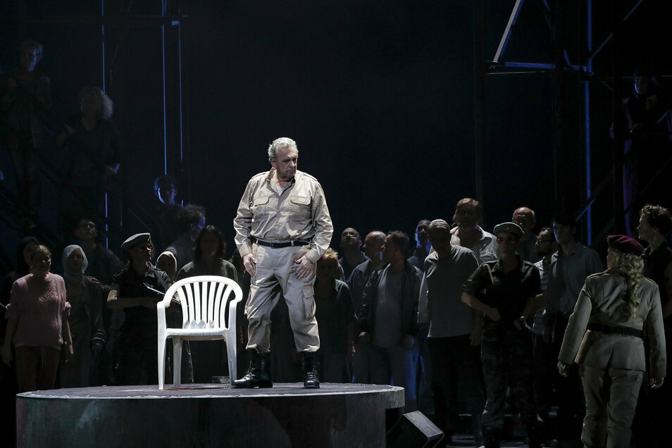 "Domingo als  ""Nabucco"" am 5. Juni 2019 in der Semperoper Dresden."