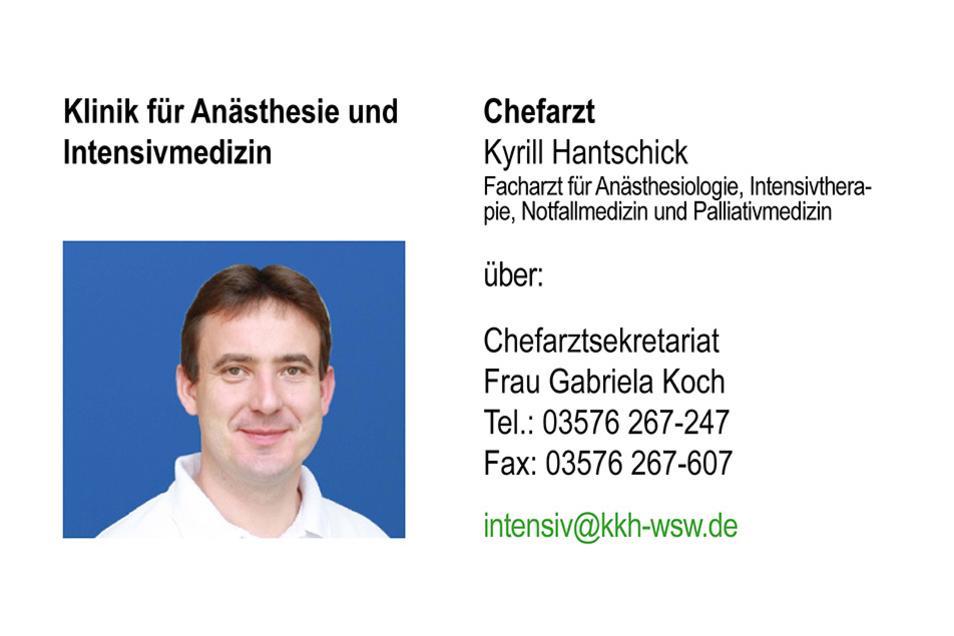 Anästhesiologie, Intensivmedizin, Schmerztherapie