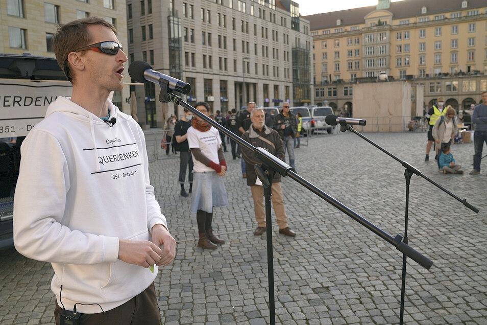 """Marcus Fuchs, der Dresdner Chef-""""Querdenker"""", hat zwei Drittel seines einstigen Freundeskreises verloren."""
