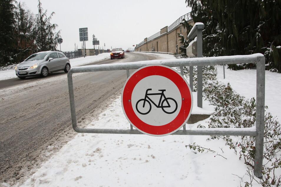 Radfahrer in Pirna haben es nicht immer leicht.