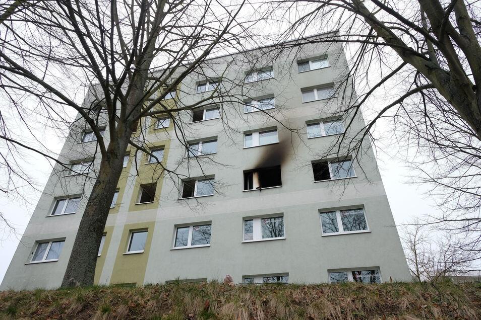 In diesem Haus in Grimma passierte die Tragödie.