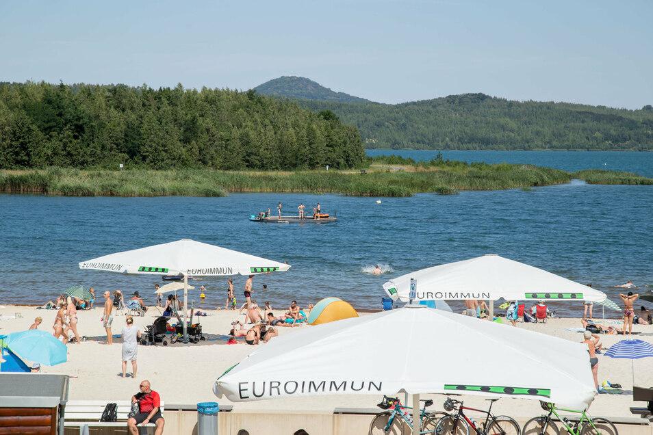 Die Blaue Lagune am Berzdorfer See