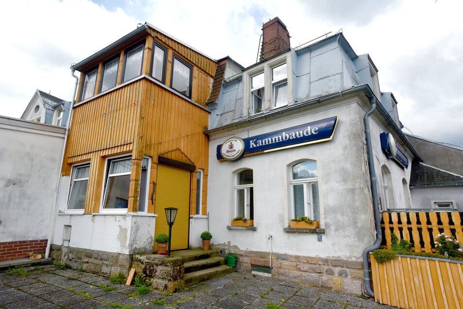 Die Kammbaude liegt in Oybin/Hain direkt am Grenzweg zu Tschechien.