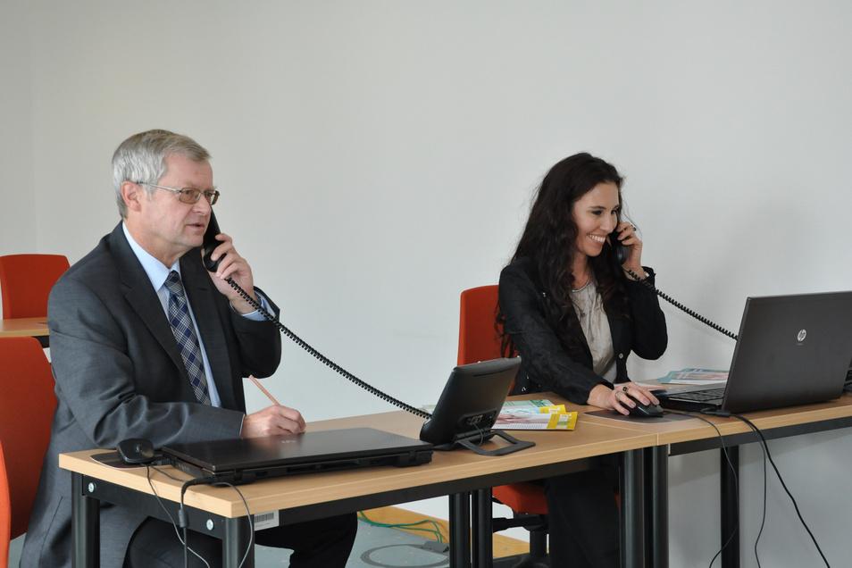Gefragte Spezialisten: Dr. Thomas Breyer, Präsident der Landeszahnärztekammer Sachsen, und Zahnärztin Dr. Florestin Lüttge.