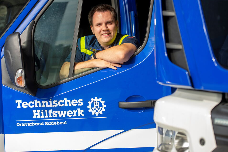 Fabian Scholz ist Ortsbeauftragter des Technischen Hilfswerkes in Radebeul und mit seinen Mitstreitern für große Teile des Kreises Meißen zuständig. In Nordrhein-Westfalen hat er die Einsätze von Helfern aus der ganzen Bundesrepublik koordiniert.