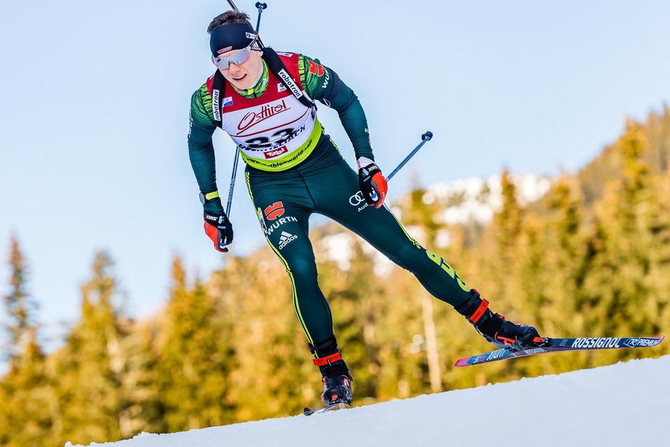 Justus Strelow konnte sich in diesem Winter in der zweiten Biathlon-Liga etablieren.