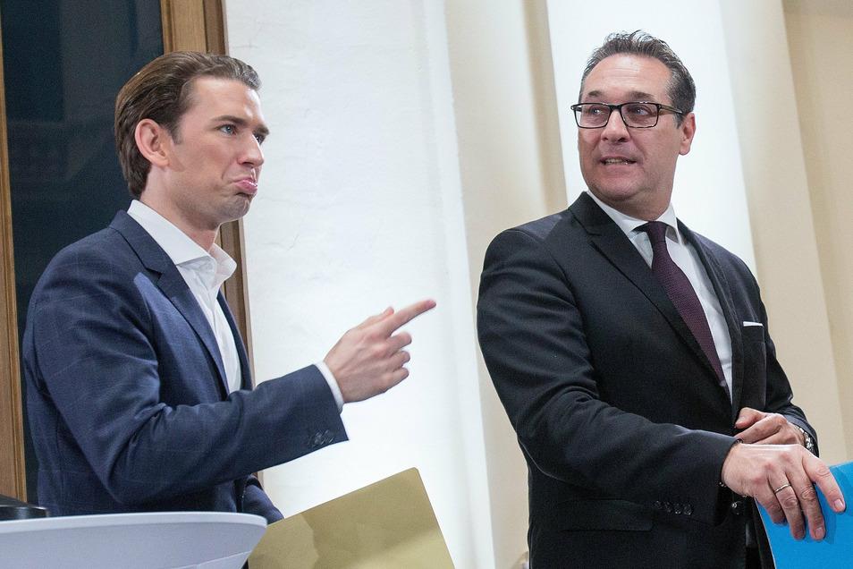 Wegen der Affäre stellte sich Bundeskanzler Kurz gegen Strache.