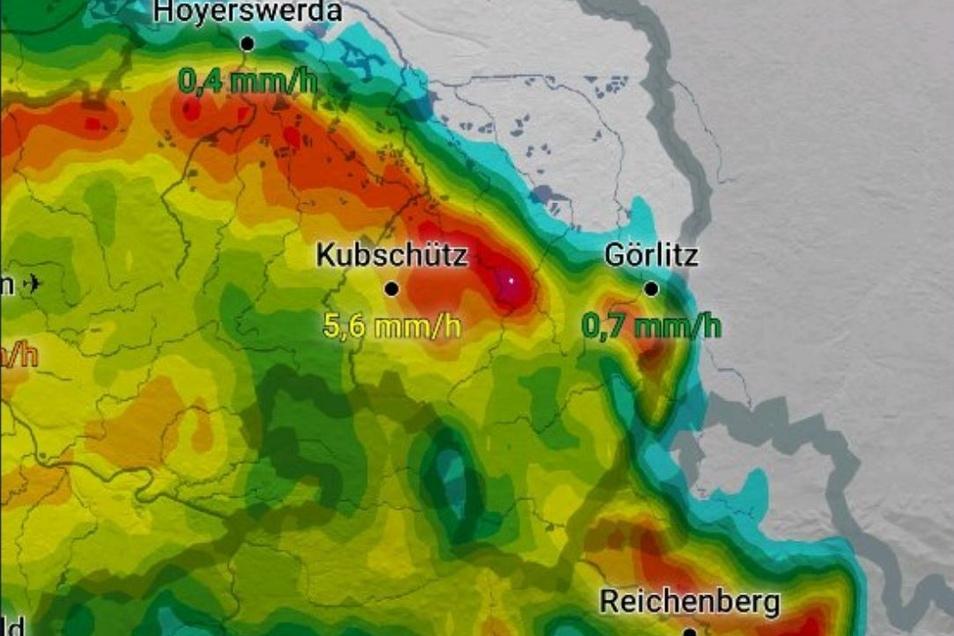 Aus dem Südwesten zog das Unwetter nach Görlitz hinein.