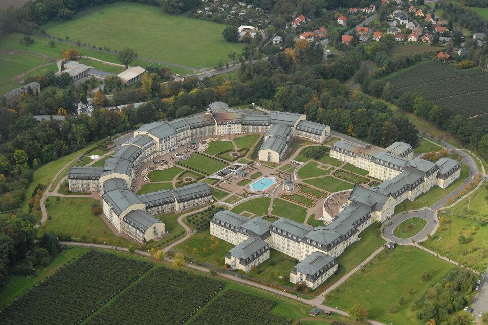 Die Bavaria-Klinik in Kreischa öffnet ab Montag wieder für Besucher.