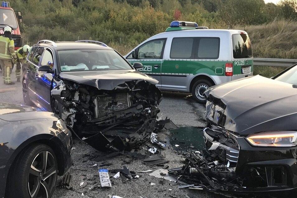 Einer der 2018er Unfälle an der A17-Auffahrt Heidenau.