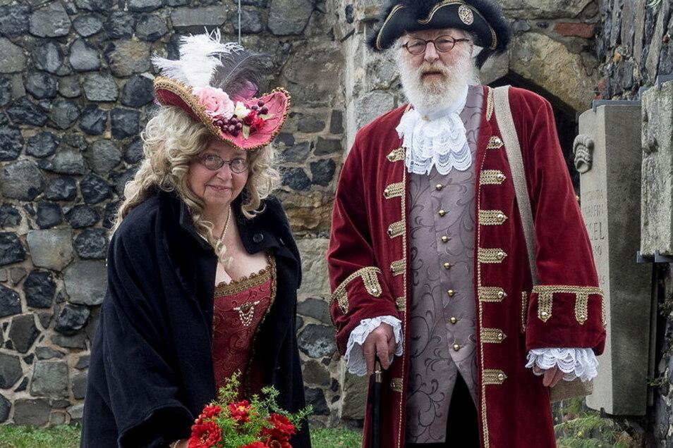 Die Barockgruppe Dresden ehrt die Gräfin Cosel jedes Jahr zum Geburtstag, wie hier im Vorjahr.