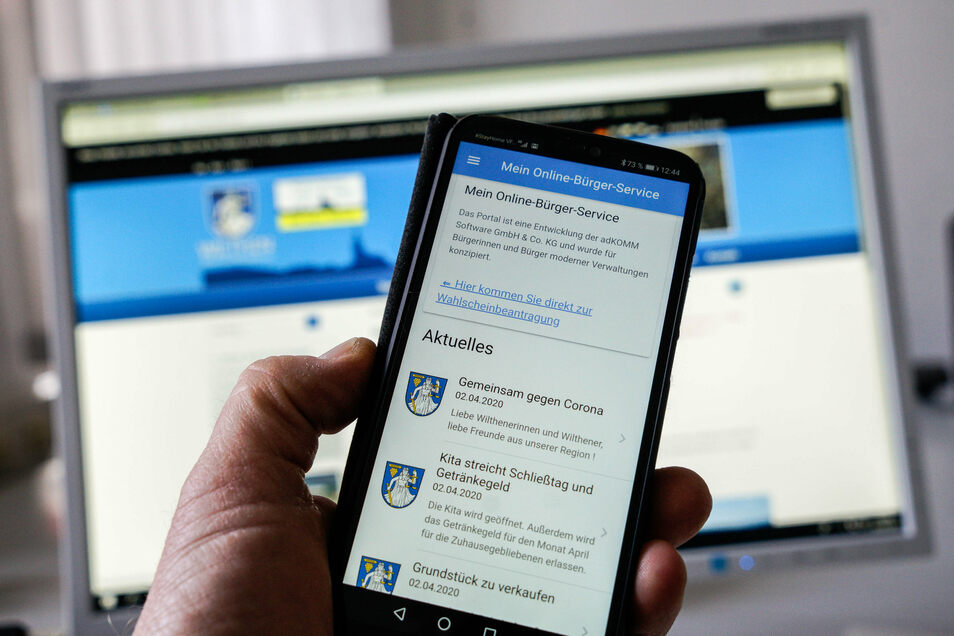 Die Nutzung einer neuen App kann in Wilthen ab sofort so manchen Weg ins Rathaus ersetzen.