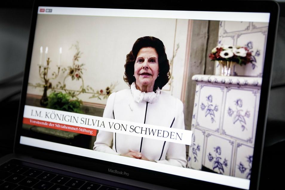 Königin Silvia von Schweden zertifiziert das demenzsensible St.-Carolus-Krankenhaus in Görlitz und gratuliert per Videobotschaft.