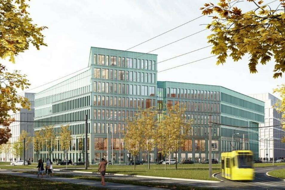 Entwurf Nummer 2: Blick über den Georgplatz auf das Verwaltungszentrum
