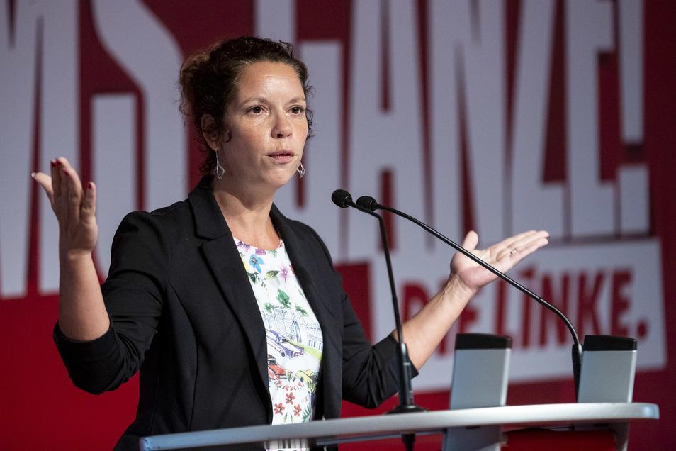 Antje Feiks ist Parteichefin der Linken in Sachsen.