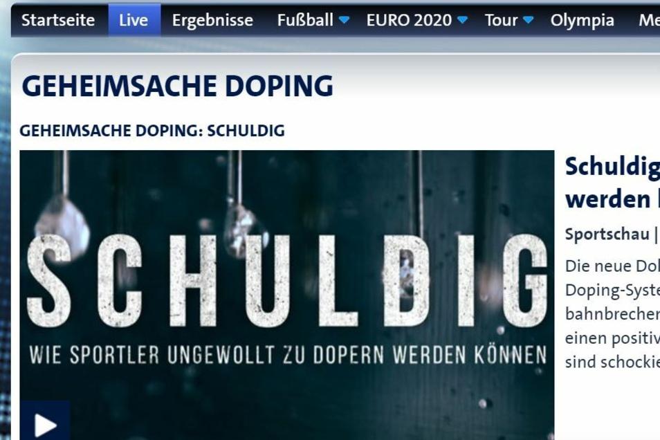 Seit Freitagnachmittag ist die Dokumentation bereits bei sportschau.de zu sehen.