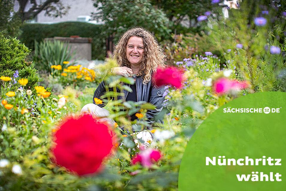Blumen gibt es viele auf dem Katzenjammer zwischen Leckwitz und Merschwitz, wo Andrea Beger mit ihrer Familie wohnt.