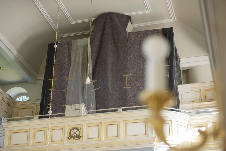 Die Orgelpfeifen wurden bereits im Herbst 2019 ausgebaut. Ihre Sanierung dauert noch bis 2021.