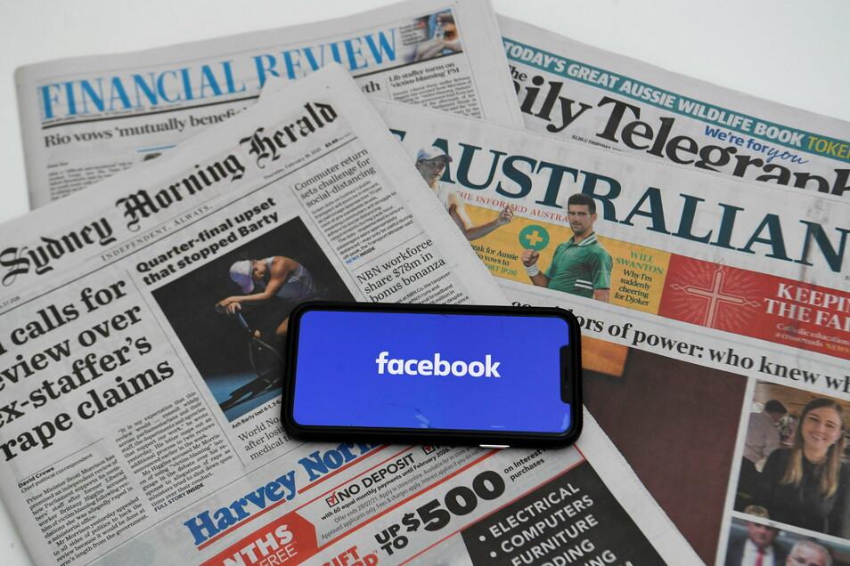 Der Streit zwischen Facebook und der australischen Regierung über ein neues Mediengesetz eskaliert. Australische Facebook-Nutzer können keine nationalen oder internationalen journalistischen Inhalte mehr teilen.