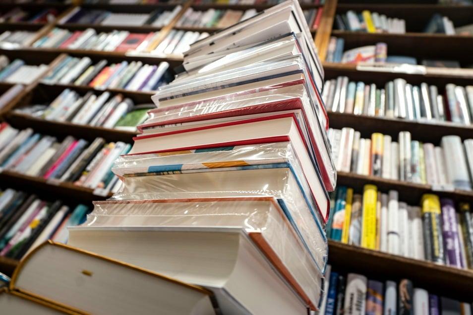Jede menge Lesestoff: Freitals Bücherei verleiht trotz Corona Bücher, Zeitschriften oder Fachlektüre.