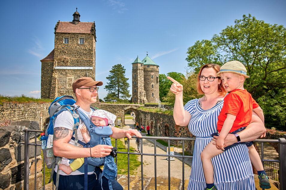Familie Schur aus Kromlau hatte sich Burg Stolpen angeschaut.