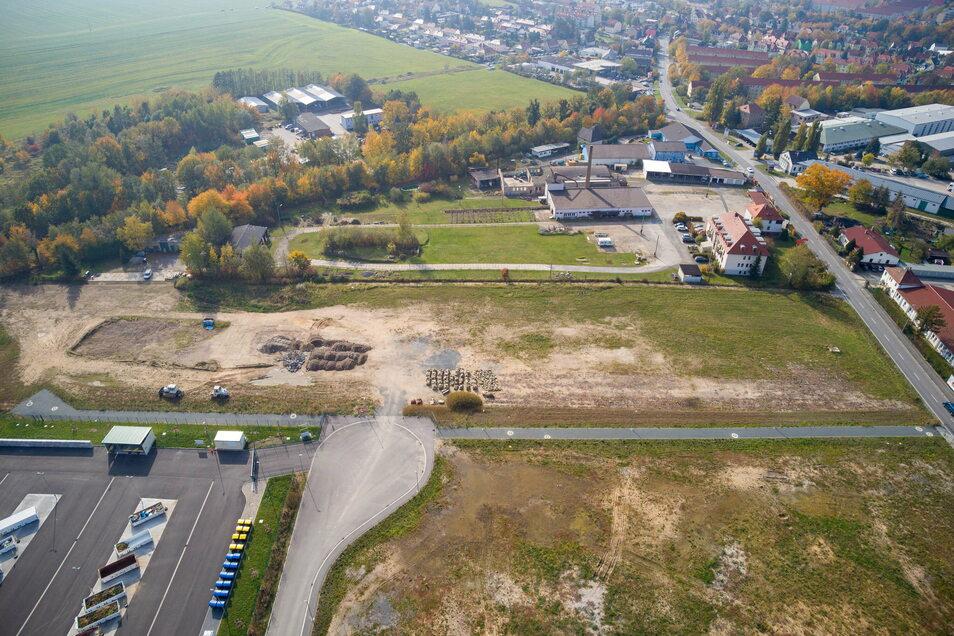 Gewerbegebiet Copitz-Nord: Lange tat sich nicht, doch auf einmal waren alle Grundstücke weg.