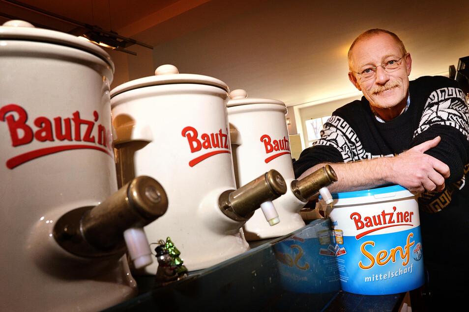 Manfred Lüdtke, Chef des Bautzener Senfmuseums und der Senfstube, ist Initiator der besonderen Werbeaktion für die diesjährigen Senfwochen.