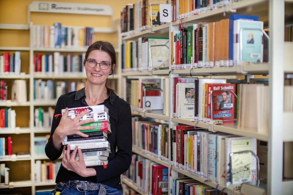 Susan Bazylak war bisher stellvertretende Leiterin der Bibliotheken in Riesa. Künftig soll sie Teamleiterin werden.