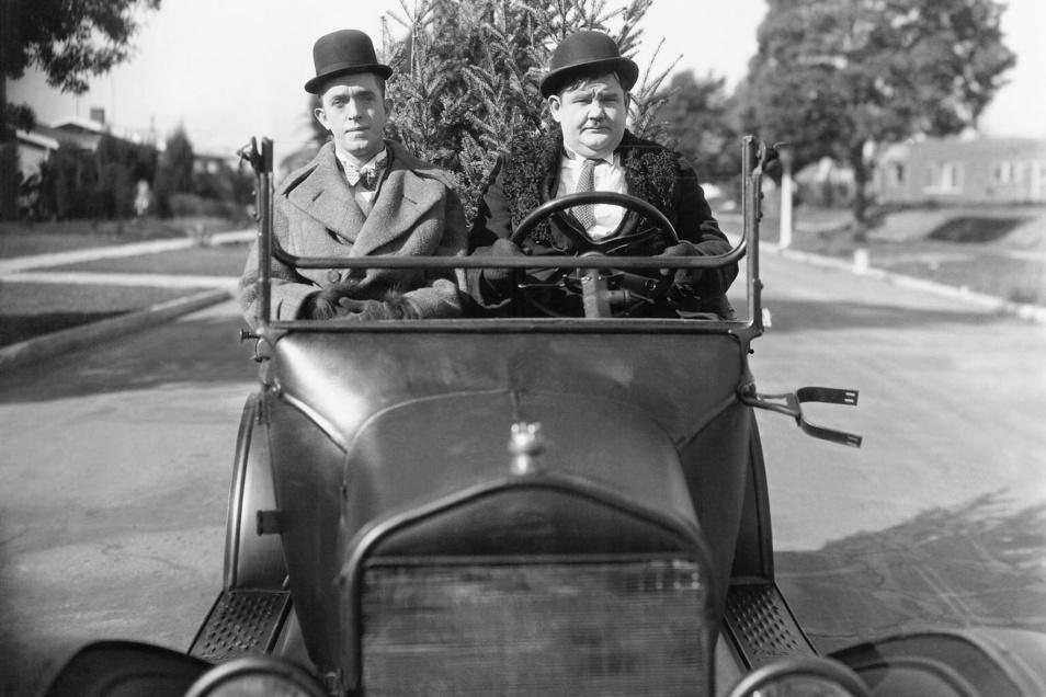 Am 11. Dezember heißt das Motto Leinwand-Lyrik zu Filmen mit Laurel und Hardy.