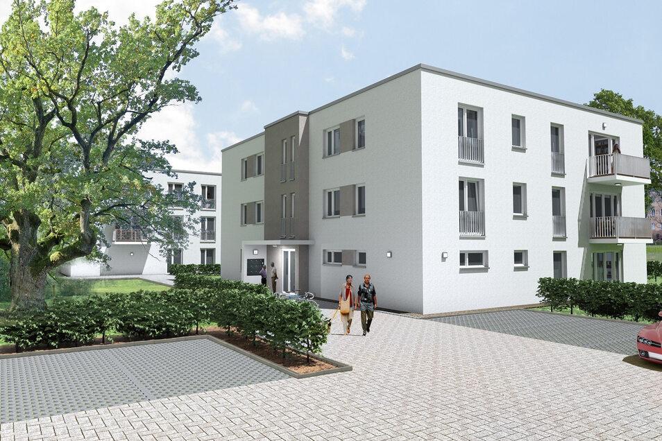Entwurf für Sozialwohnungen in Dresden-Niedersedlitz.   2017 und 2018 wurden in der Landeshauptstadt 385 Sozialwohnungen errichtet.