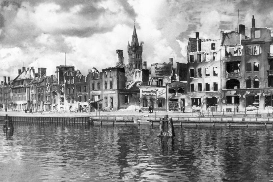 Das zerstörte Königsberg nach dem Luftangriff im August 1944.