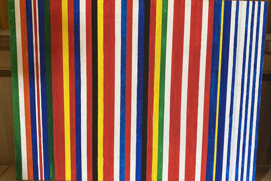 """William Kaniuth hat die europäische Einheit """"auf das Simpelste reduziert"""" - auf die Farben in den Flaggen. """"Und trotzdem ist die Individualität in der Einheit wiederzuerkennen."""""""
