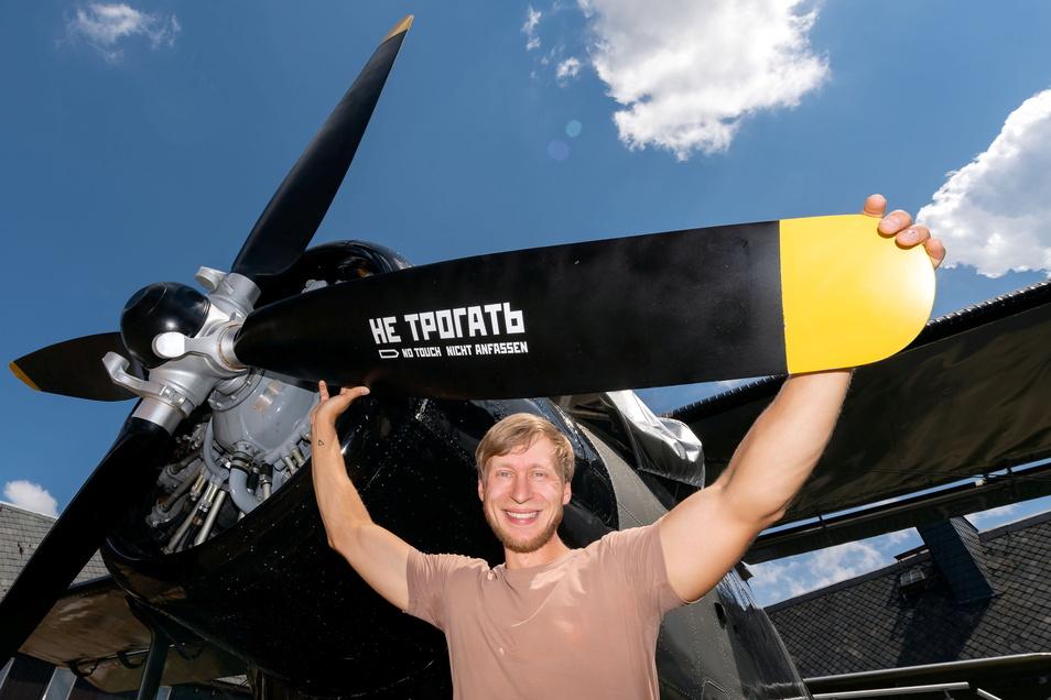 Der Altendorfer Erik Herbert hat es geschafft. Sein außergewöhnliches Feriendomizil, eine Antonov AN2, ist am Start.